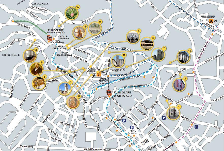 mapa Bérgamo